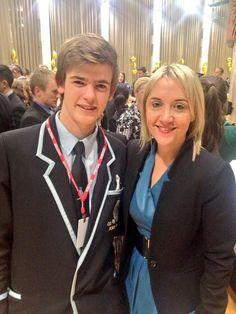 Youth MP Monty Blackwood and Minister Nikki Kaye