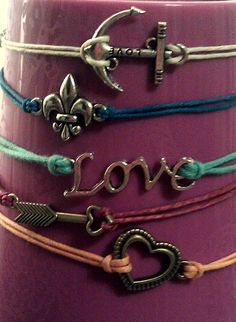 CUSTOM Made friendship bracelet with your choice por HibouBoutique