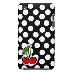 Cherries; Large Polka Dot Case-Mate iPod Touch Case