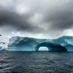 Antarctica color. The aqua blue was gorgeous today against the dark clouds.