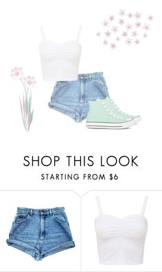 """❝go feel the sunshine☼❞"" by askmelaterr ❤ liked on Polyvore featuring beauty, Converse, Summer, contest, Flowers, Sunshine and highwaistedshorts"