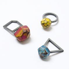 Cristina Zani - My Seoul oxidised rings - contemporary jewellery at &Collective Art Gallery, Bridge of Allan