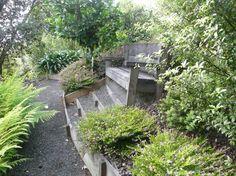 Waimanu Lodge Northland New Zealand. Garden seat with Whangaroa Harbour Views Harbor View, Garden Seating, New Zealand, Garden Ideas, Gardens, Plants, Landscaping Ideas, Plant, Backyard Ideas