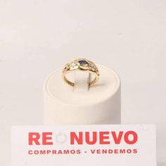 Anillo de oro con zafiros y brillantes de segunda mano E277285A   Tienda online de segunda mano en Barcelona Re-Nuevo