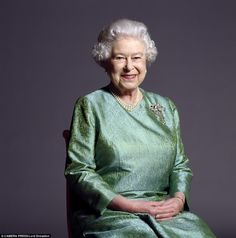 Happy and glorious: This is one of the Queen's favourite shots of her taken by him in 2010