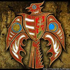Turulmadár (Kárpátia) Hungarian Tattoo, Hungarian Embroidery, Runic Writing, Hungary History, Dad Tattoos, Asatru, Family Roots, Celtic Art, Chain Stitch