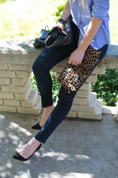 Leopard + Chambray