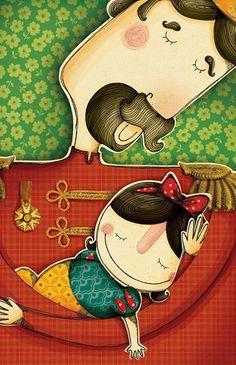 Ilustracão de Bruna Assis Brasil para o livro Branca de neve e as sete versões de José Roberto Torero e Marcus Aurelius Pimenta