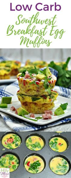 Low Carb Southwest Breakfast Egg Muffins #paleo #keto #ketodiet #weightwatchers #breakfast Easy Breakfast Casserole Recipes, Egg Muffins, Recipe Of The Day, Low Carb, Eggs, Egg