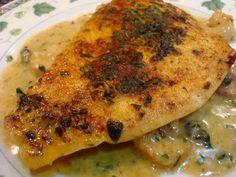 Broiled Fillet of Flounder in Cajun Shrimp Butter