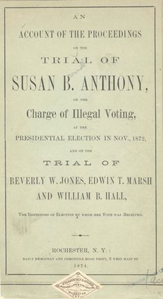 Form Letter From E Cady Stanton Susan B Anthony And Lucy Stone
