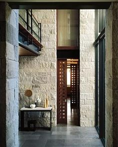 Modern Monastic Stone House Structure Design - Home Improvement Inspiration House Structure Design, House Design, Wall Design, Interior Architecture, Interior And Exterior, Interior Design, Contemporary Architecture, Contemporary Interior, Luxury Interior
