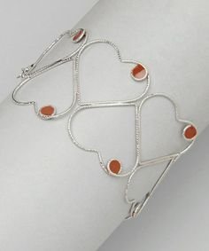 Take a look at this Red Sterling Silver Heart Bracelet by Mariposa by Athra on #zulily today!