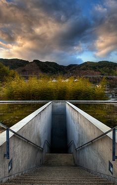 The Entrance, Honpuku-ji temple, Awaji, Hyogo, Japan. Work of Tadao Ando