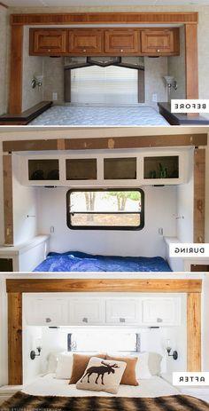 8+ Amazing RV & Camper Hacks Makeover Remodel Interior Ideas #remodel #interiors #ideas