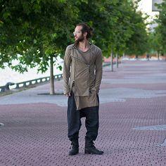 Boris Bidjan Saberi Double Zip Sweater, Boris Bidjan Saberi Long Tee, Damir Doma Harem Pants, Boris Bidjan Saberi Wrap Boots