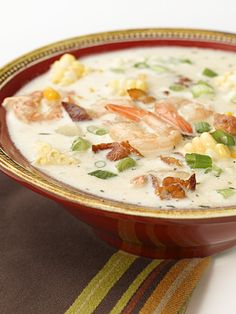 Corn & Shrimp Chowder with Bacon