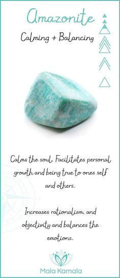 Amazonite: calming and balancing