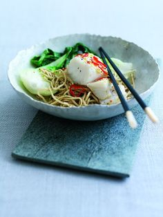Pacific Cod with Lime, Chilli and Ginger. Simple quick and easy healthy meal to make in 30 mins