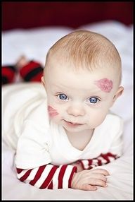 Baby Kisses ~ adorable Valentine photo idea!