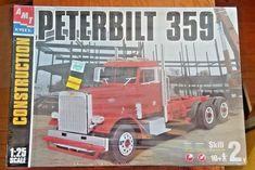 AMT Ertl Peterbilt 359 Semi truck Construction series 1/25 scale model kit FS  #AMT