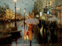 Fotografias durante la lluvia parecen pinturas al óleo - Taringa!