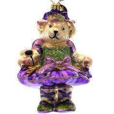Radko MUFFY IRRESISTIBLE IRIS 1013557 Ornament Vanderbear