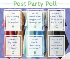 Post party poll Norwex Biz, Norwex Cleaning, Norwex Products, Cleaning Hacks, Thirty One Party, Thirty One Gifts, Arbonne Party, Thirty One Facebook, Norwex Party