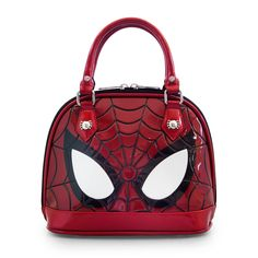 Marvel Spiderman Eyes Mini Dome Hand Bag Purse With Dust Bag Those spidey senses are oh so tingling with the Marvel Spiderman Eyes Mini Dome purse by Loungefly. Boutique Interior, Man Purse, Backpack Purse, Luxury Handbags, Purses And Handbags, Marvel Clothes, Geek Fashion, Fandom Fashion, Unique Purses