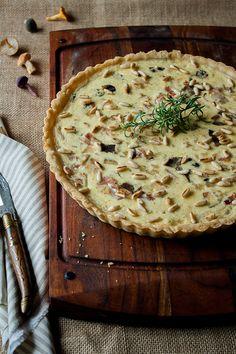 wild mushrooms, serrano jam & pine nuts quiche / my dear recipes
