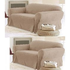 Get 18% off on this beautiful #SofaLoveseatSlipCover only at #LinenTreasures . This 2-PC Soft Micro Suede Couch Sofa Loveseat Slip cover Beige New will be a delight for your living room. Hurry Up!