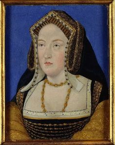 Miniature portrait purported to be of Katherine of Aragon, by Wenceslaus Hollar.
