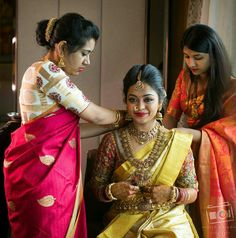 A Meticulously Planned Wedding Of A Picture Perfect Bride Bridal Sari, Saree Wedding, Wedding Dress, Wedding Shoot, Wedding Gold, Wedding Bride, Wedding Reception, South Indian Bride, Indian Bridal