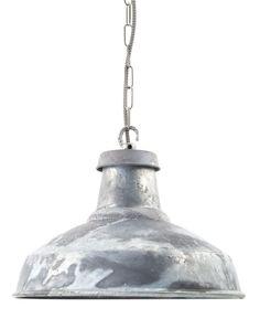 British made - Urban Cottage industries - Galvanised Industrial Lamp Shade | 360mm