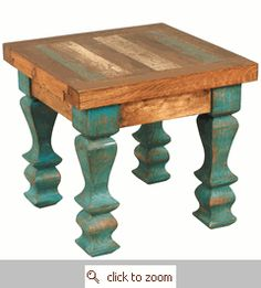 More turquoise!!! So many places you could put this cute table
