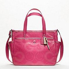 Coach :: Baby Bag Stitched Patent Tote