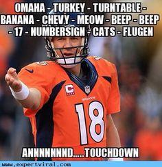 30 Best Memes of Peyton Manning, Denver Broncos Defense, Tom Brady Sacked & New England Patriots Beaten Denver Broncos Defense, Denver Broncos Football, Go Broncos, Broncos Fans, Broncos Players, Nfl Memes, Sports Memes, Peyton Manning Memes, Football Jokes
