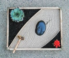 Make This: Zen-Inspired Succulent Desktop Garden | Man Made DIY | Crafts for Men | Keywords: garden, office, succulent, desk