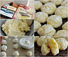 How to make soft butter cookies from a box of cake mix