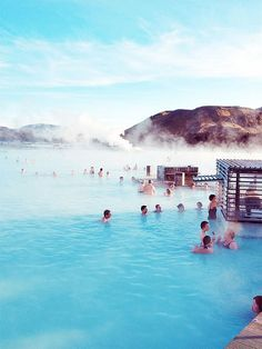 Going here. Blue Lagoon Geothermal Spa In Reykjavik, Iceland Places Around The World, Oh The Places You'll Go, Places To Travel, Places To Visit, Vacation Destinations, Dream Vacations, Vacation Spots, Holiday Destinations, Blue Lagoon