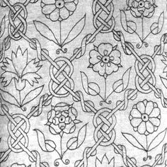 Elizabethan style embroidery design.