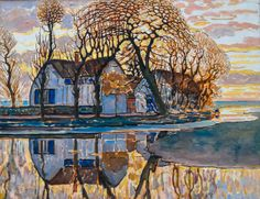 Piet Mondrian - Farm near Duivendrecht, 1916 at the Art Institute of Chicago IL | Flickr - Photo Sharing!