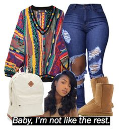 """""""Its been cold asf lately"""" by goddessnaii ❤ liked on Polyvore featuring COOGI, UGG Australia and Aéropostale"""