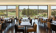 Restaurante com vista campo de Golfe