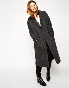 This wool coat is the perfect grey colour. It will look amazing with skinny jeans, a turtleneck jumper and a pair of boots. Find it here: http://asos.do/W7NqQT