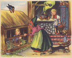 Hänsel und Gretel / Illustration 5 | Gebrüder Grimm / Hänsel und Gretel  Kinderbuch Pestalozzi Verlag / Deutschland ex libris MTP
