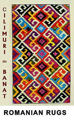 Romanian Folk Rugs Ethnic Patterns, Color Patterns, Colorful Pictures, Kilim Rugs, Folk, Weaving, Cool Stuff, Romania, Magic