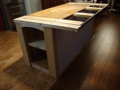 Step Another On Desk Kitchen Island Adding Enough Support For The Overhanging Countertop
