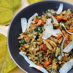 Orzo with Caramelized Fall Vegetables