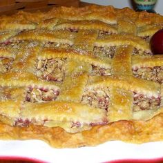 It's an all-American vegan cherry pie with a touch of exotic five spice.